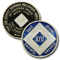 24 Year Blue NA Tri-Plate Medallion