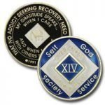Blue Tri-Plate Medallions 13 Year Blue NA Tri-Plate Medallion