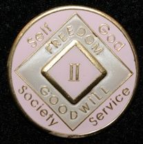 20 Year NA Tri-Plate Pink Medallion