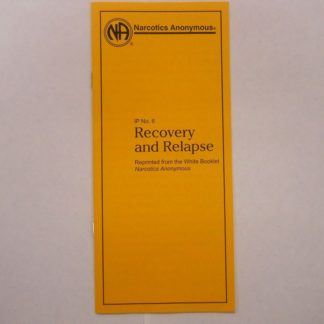 IP #6 Recovery and Relapse Large Print