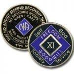 Purple Tri-Plate Medallions 22 Year Tri-Plate Purple NA Medallion