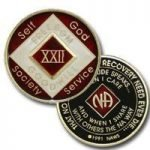 Red Tri-Plate Medallions 28 Year NA Tri-Plate Red Medallion