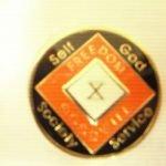Orange Tri-Plate Medallions Orange 5 Year Tri-Plate Medallion