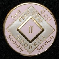 19 Year NA Tri-Plate Pink Medallion