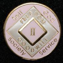 28 Year NA Tri-Plate Pink Medallion