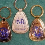 "Keychain Medallion Holders and Metal Key Tags NA Metal ""Multiple Years"" Tag Lg."