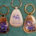 Keychain Medallion Holders and Metal Key Tags NA Metal Decades Key Tag Lg