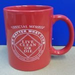 NA Coffee Mugs No Matter What mug (red)