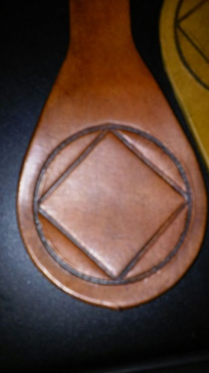 NA Leather Key Ring with Symbol