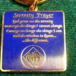 Keychain Medallion Holders and Metal Key Tags NA Logo Key Tag with Serenity Prayer