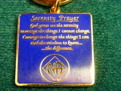 NA Logo Key Tag with Serenity Prayer