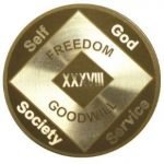 NA Laser Etched Medallions 24 Year Laser Etched NA Medallion