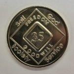 NA Arabic Numeral Medallions Arabic Numeral Medallions 25 yr