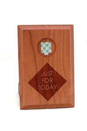 Just For Today Wall Plaque Medallion Holder