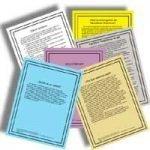 Juego de 7 Carteles - 7 Poster Set, Spanish Group Readings, Grupo Lecturas