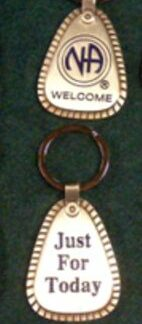 NA Metal Welcome Key Tag Large