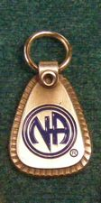 Small Metal NA Welcome Key Tag