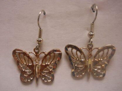 Small Butterfly Hook Earrings