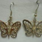 NA Jewelry Large Butterfly Earrings