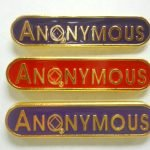 NA Lapel Pins Anonymous Lapel Pin Purple