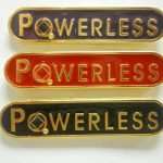 NA Lapel Pins Powerless Lapel Pin Red