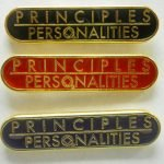 NA Lapel Pins Principales over Personalities Red