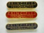 NA Lapel Pins Principales over Personalities Black
