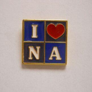 "I ""Heart"" N A Lapel Pin"