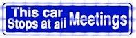 This car Stops at – Bumper Sticker