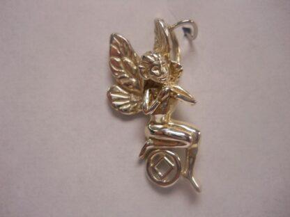 Sterling Silver Angel on NA NA Symbol Pendant