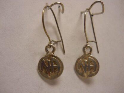Sterling Silver Dangle Disk NA Earrings
