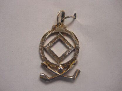 Sterling Silver NA Symbol w/Golf Clubs