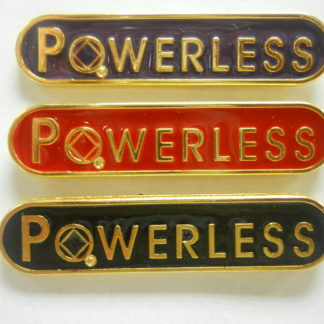 Powerless Lapel Pin Black