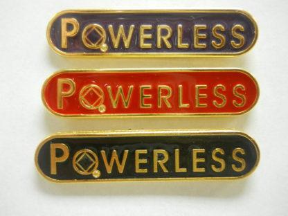Powerless Lapel Pin Black