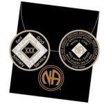 Black Tri-Plate Medallions 30 Year Tri-Plate Medallion Black