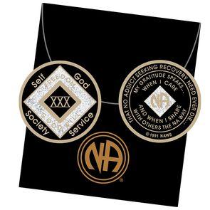 30 Year Tri-Plate Medallion Black
