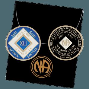 41 Year Blue NA Tri-Plate Medallion