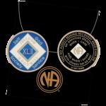 Blue Tri-Plate Medallions 42 Year Blue NA Tri-Plate Medallion