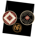 Red Tri-Plate Medallions 7 Year NA Tri-Plate Red Medallion