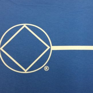 Ladies Poly T-Shirt Blue Symbol Front