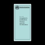 Standard Print Pamphlets NA IP #20 H&I and the NA Member