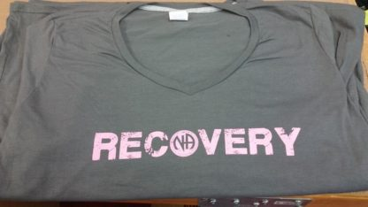 Grey Ladies V-Neck T-Shirt Recovery