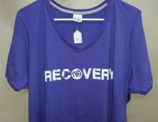 NA Recovery V-Neck T-Shirt Purple