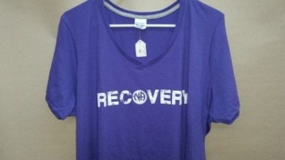 NA Recovery V-Neck T-Shirt Purple