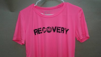 Ladies Poly T-Shirt Recovery Pink