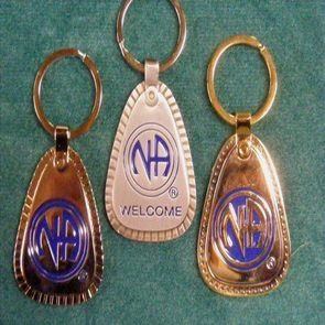 NA Metal 25 Years Key Tag Lg