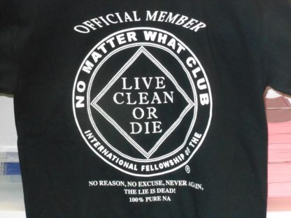 No Matter What T-Shirt on Back W/Pocket (Black)