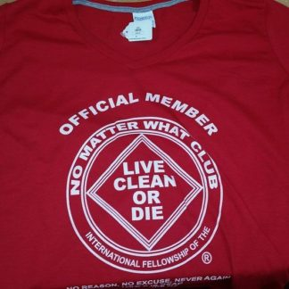 NA V Neck T-Shirt Official Member Red