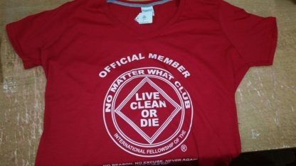 NA V Neck T-Shirt Official Member Red