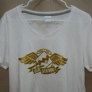 NA T-Shirt Ladies Old School Poly White